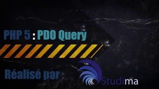 PHP PDO query - TUTORIEL PHP MYSQL