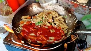 PASTA Cooked Street food Street cooking & recipe how to cooking pasta BD food Dhaka