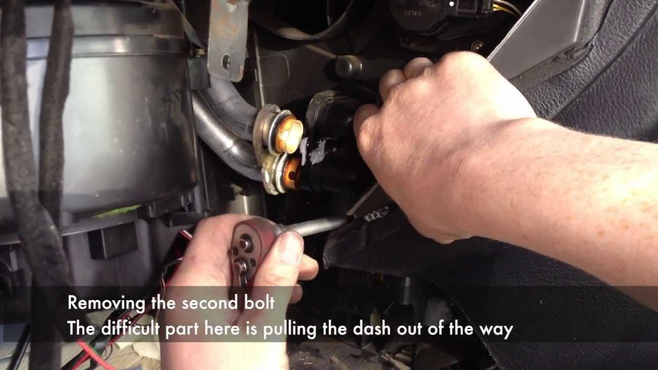 Heater Matrix Removal with dash in place  YouTube