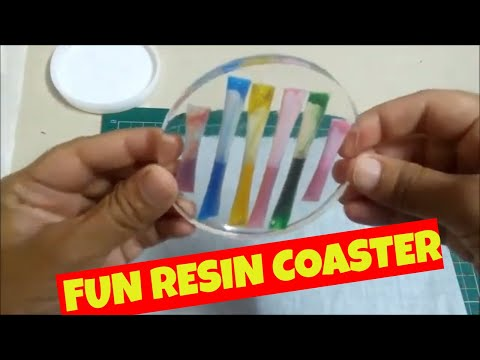 How to make a Straw Coaster from Resin|| DIY Epoxy resin ideas