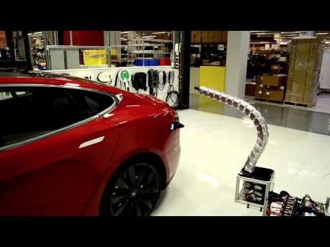 Tesla Charging Station - what cars do at night