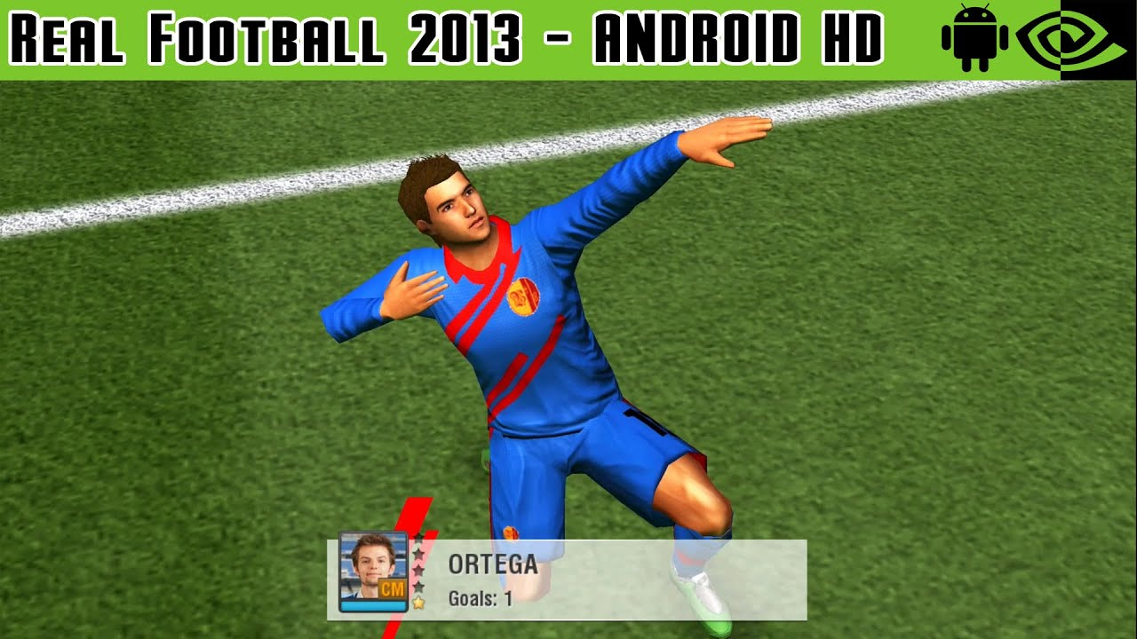 Real Football 2013 - Gameplay Nvidia Shield Tablet Android 1080p (Android  Games HD)