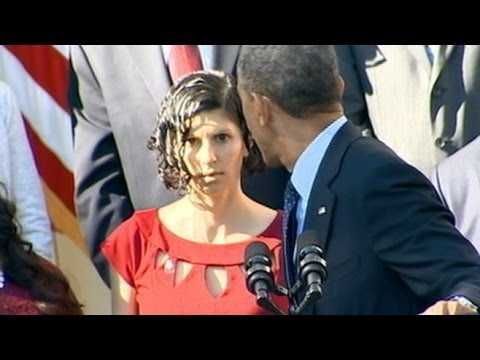 Woman Faints While President Obama Gives Remarks About Healt