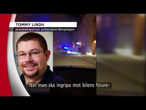 Polis sköt mot vansinneskörande förare - Nyheterna (TV4)