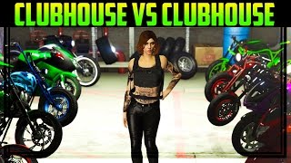 GTA 5 Online CLUBHOUSE vs CLUBHOUSE (Best Looking Bikes & Customization)