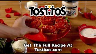 TOSTITOS - Will You Accept This Pizza Rose?  Pepperoni Roll-up Recipe