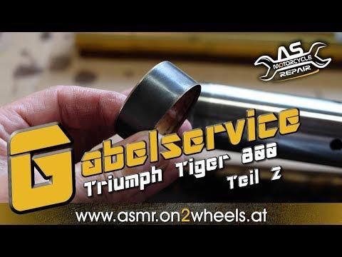 ➤ GABELSERVICE Gabelöl Wechseln TEIL 2 | Triumph Tiger 800
