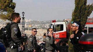 شاهد| اللقطات الأولي لحادث دهس إسرائيليين بالقدس