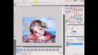 Урок анимация глаз в PhotoShop,при перемещение (часть 1)