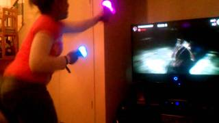 Cassie on the PS3 move the fight