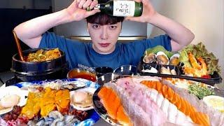 모듬회 모듬해산물 매운탕 소주 먹방 MUKBANG - …