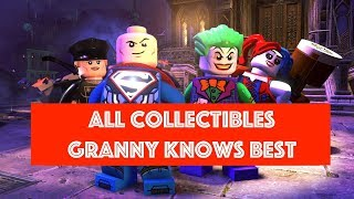 Lego DC Super Villains Granny Knows Best Free Play 100% all Minikits and Collectibles