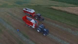 Usługi rolnicze, zbiór traw, siew kukurydzy 2018 | DabroLs