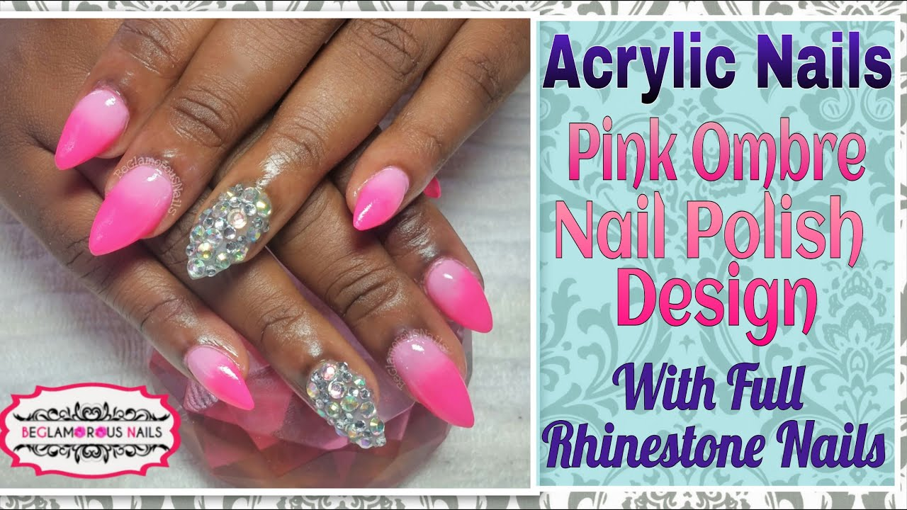 how to | acrylic nails | nail art design | pink omber with