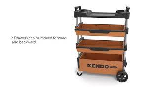 KENDO Foldable Tool Trolley