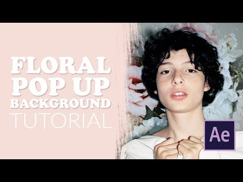 floral pop up background | after effects tutorial thumbnail