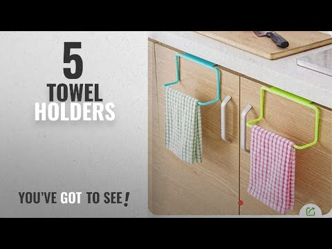 Top 10 Towel Holders [2018]: ZZ ZONEX 2 Pc Towel Rack Hanging Holder Organizer Bathroom Kitchen
