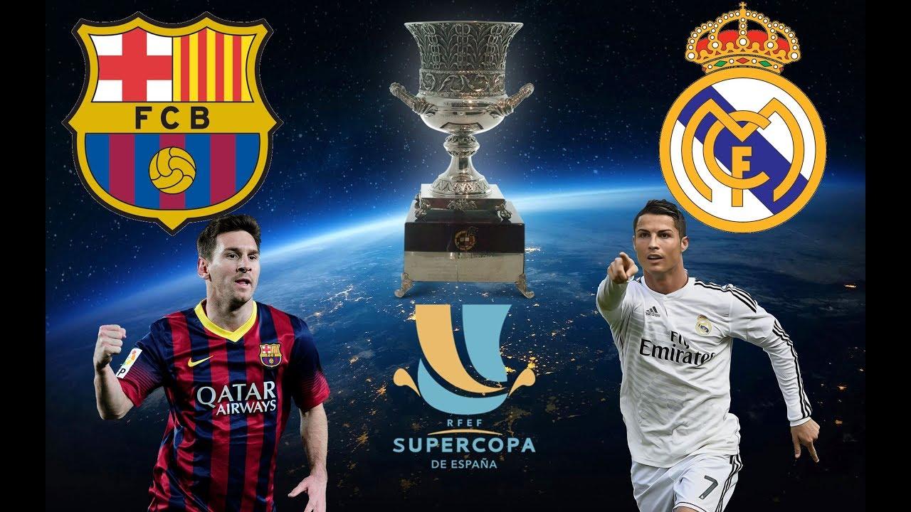Resultado de imagen de barcelona vs madrid supercopa 2017