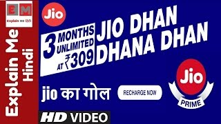 Jio Dhan Dhana Dhan Offer | Reliance Jio Dhan Dhana Dhan Offer | Unlimited Data for 3 Months