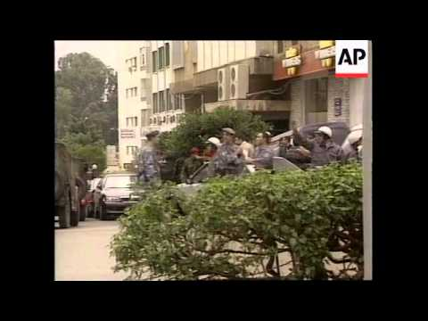 LEBANON: BEIRUT: RUSSIAN EMBASSY HIT BY GRENADES