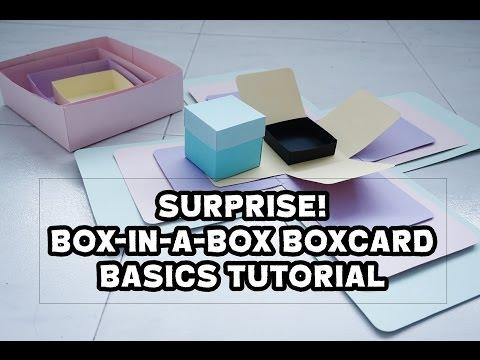 SURPRISE! Box-in-a-box Boxcard Basics Tutorial