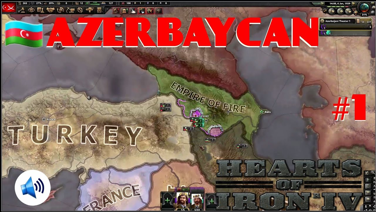 AZERBAYCAN #1 | HEARTS OF IRON 4 | IRONMAN ANLATIMLI TURAN
