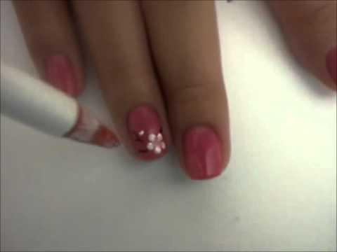 easy cherry blossom nail art tutorial for short nails