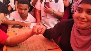 Liberal  Collage sport meet 2021 Arm Wrestling for girl
