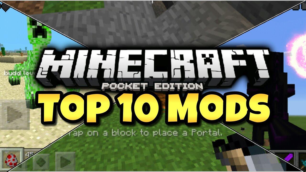 Top 10 Minecraft PE Mods! (2015)