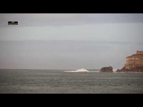 Beachcam.pt l Live Canhão da Nazaré Praia do Norte
