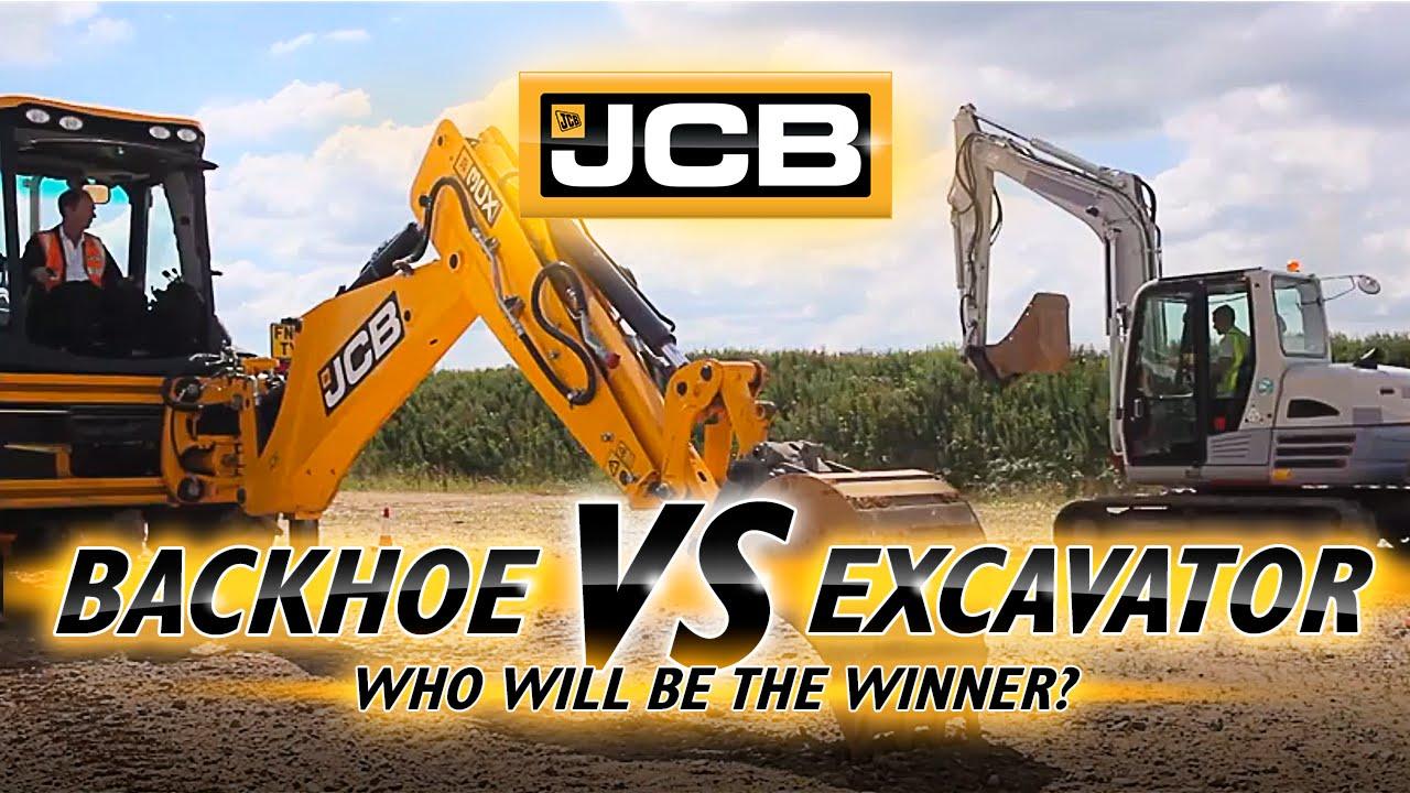 backhoe vs excavator youtube