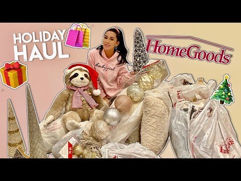HomeGoods Holiday Haul | Dhar and Laura