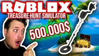 METALDETEKTOREN ER DYR! 🏖🤑:: Treasure Hunt Simulator EP. 3-Dansk Roblox