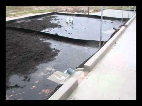 Permeable Parking Lot Rain Garden