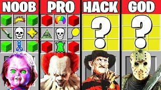 Minecraft Battle: HORROR MOVIE CRAFTING CHALLENGE - NOOB vs PRO vs HACKER vs GOD Minecraft Animation
