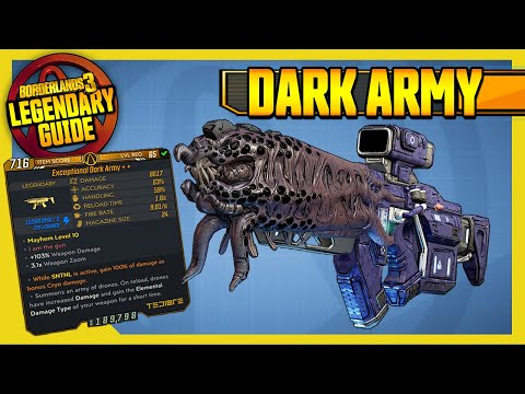 DARK ARMY | ARMS RACE | Legendary Item Guide [Borderlands 3]
