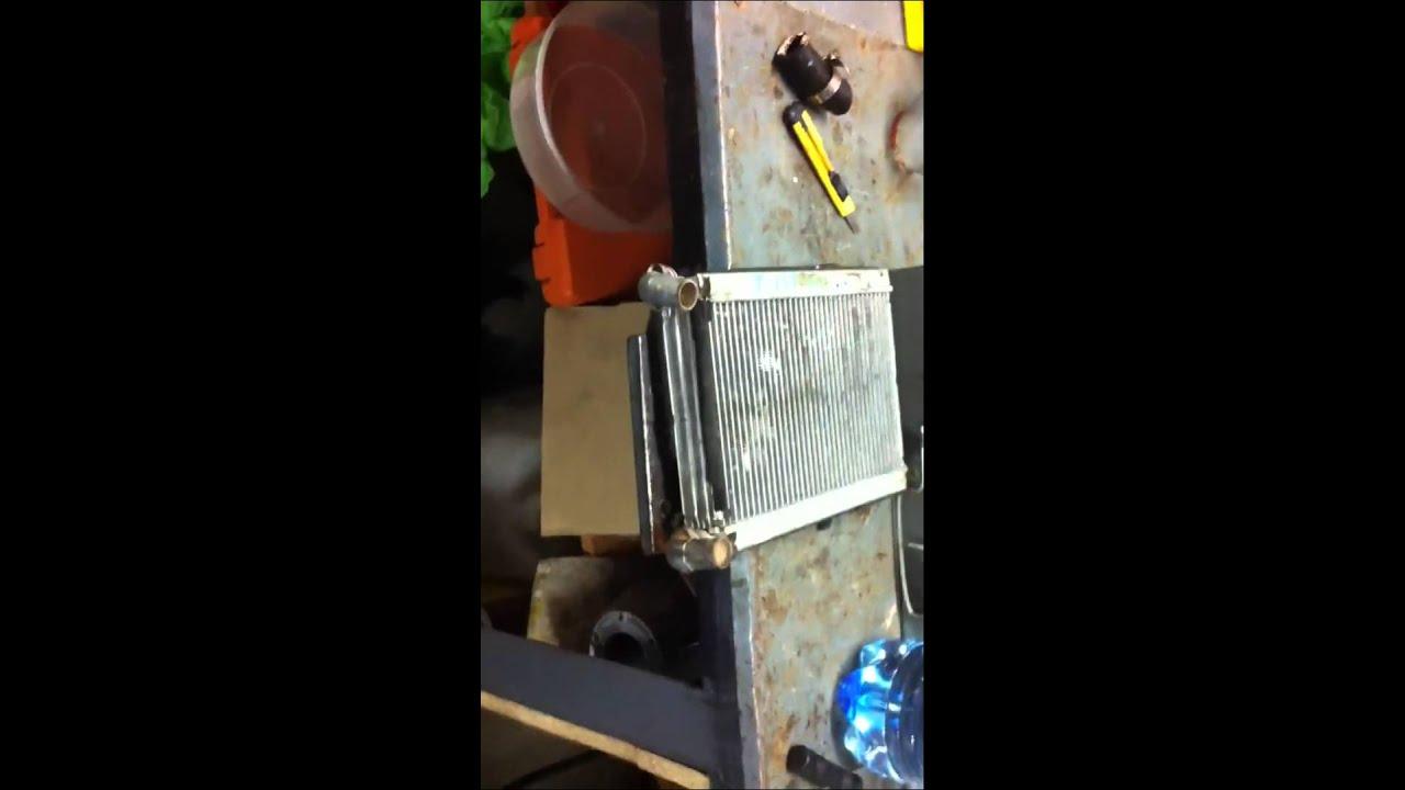Chery Tiggo Промывка радиатора печки едким натром