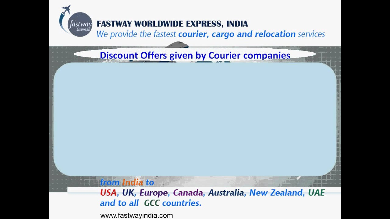 Information on Different types of Courier Charges from Courier Companies by  www fastwayindia com
