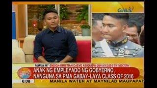 PMA valedictorian, inspirasyon ang ama para makapagtapos ng pag-aaral | Unang Hirit