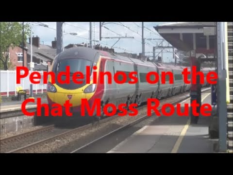 Pendelinos on the Chat Moss Route