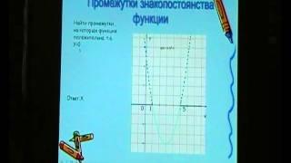 Свойства квадратичной функции.