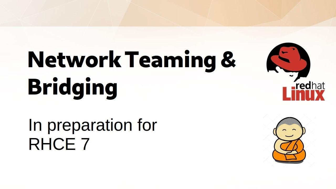 CentOS 7: Set up Network Teaming & Bridging [RHCE7]