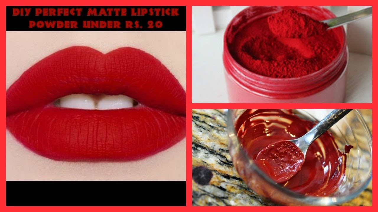 how to make your lipstick matte without translucent powder