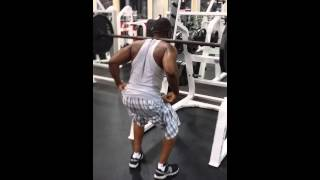 Squatting 135 with no handle