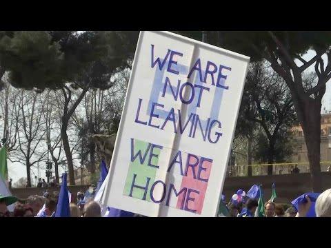 British nationals join pro-EU demonstration