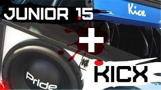 Pride junior 15 v2 + Kicx ap 1000d - Короб на 34 гц, нігерів грає чудово!