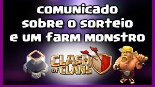 Clash of clans - DATA DO SORTEIO E FARM DE ELIXIR NEGRO