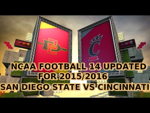NCAA Football 14 Updated For 2015 2016 San Diego State vs Cincinnati