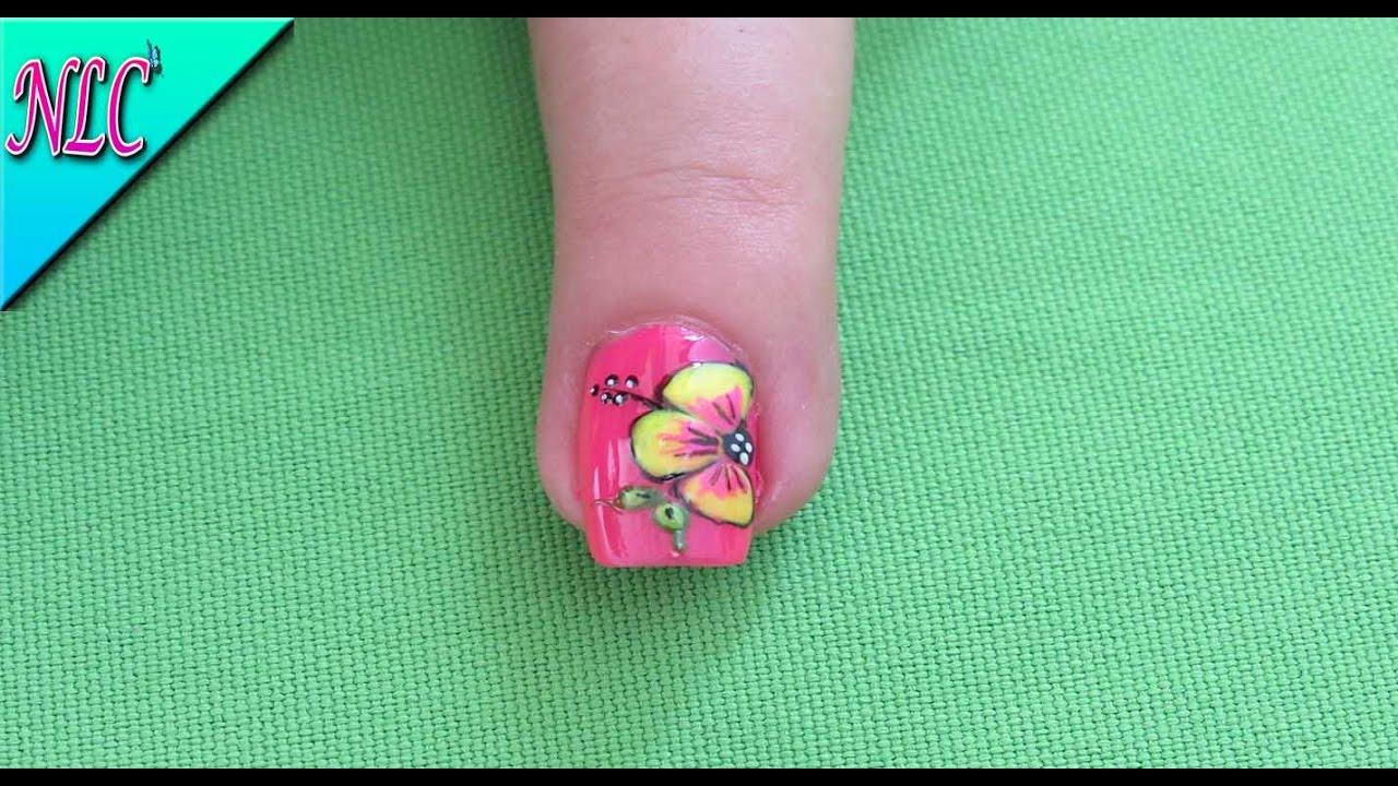 Decoracion de uñas Flores Fácil de realizar - Flowers nail art ...