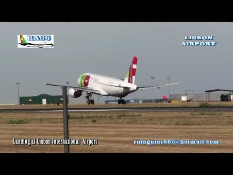 Aeroporto Lisboa Aterragem Portela Landing at Lisbon Airport Various Airlines